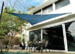 "11'10"" Triangle Shade Sail: Ocean Blue"