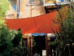 "11'10"" Square Shade Sail: Terracota Orange"