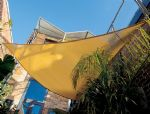 "16'5"" Triangle Shade Sail: Desert Sand"
