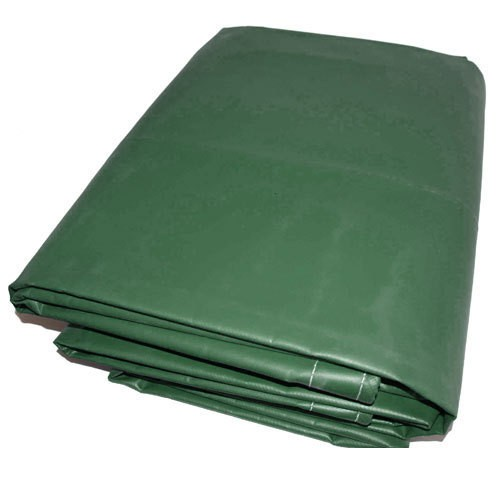 06' X 08' Green Vinyl Tarp - 13oz