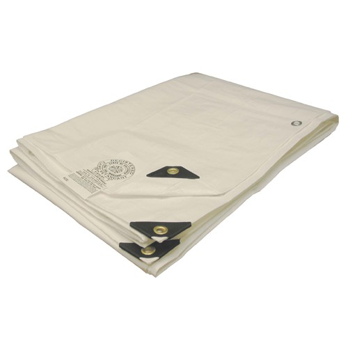 06 X 20 Heavy Duty White Fire Retardant Tarp