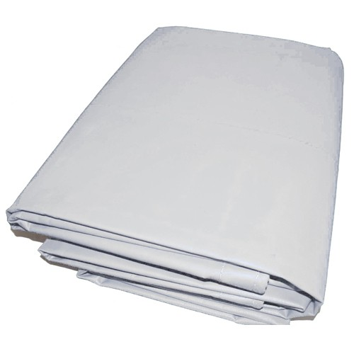 05' X 07' White Vinyl Tarp - 13oz