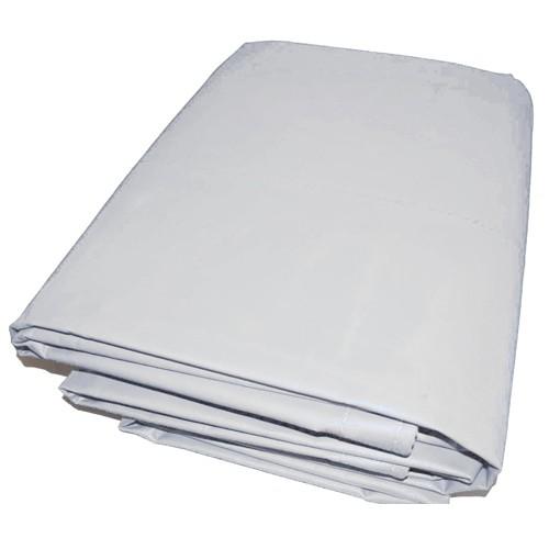 06' X 08' White Vinyl Tarp - 13oz