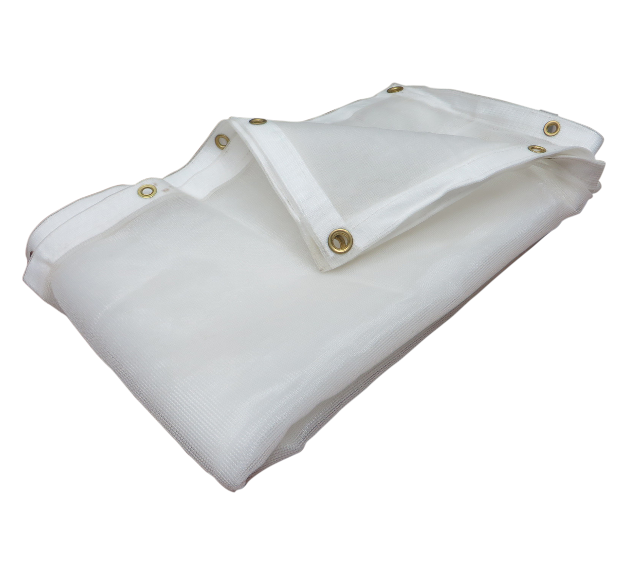 06 X 20 Heavy Duty White Mesh Tarp