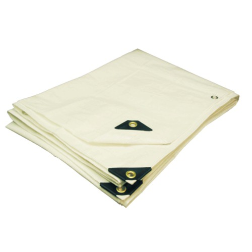 06 X 08 Heavy Duty Premium White Tarp