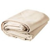 08' X 10' Heavy Duty White Canvas Tarp - 10oz.