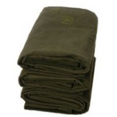 10' X 12' Heavy Duty Green Canvas Tarp - 10oz.