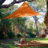 "11'10"" Triangle Shade Sail: Terracota Orange"