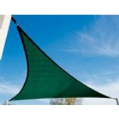 "16'5"" Triangle Shade Sail: Brunswick Green"
