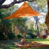 "16'5"" Triangle Shade Sail: Terracota Orange"