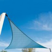 "9'10"" Triangle Shade Sail: Ocean Blue"