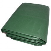 10' X 10' Green Vinyl Tarp - 13oz