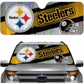 Pittsburgh Steelers NFL Auto Sunshade Cover