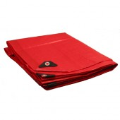 10 X 10 Heavy Duty Premium Red Tarp