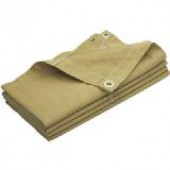 10' X 10' Heavy Duty Tan Canvas Tarp - 10oz.