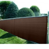 8' X 50' HEAVY DUTY BROWN FENCE SCREEN MESH TARP