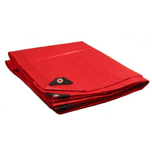 10 X 14 Heavy Duty Premium Red Tarp