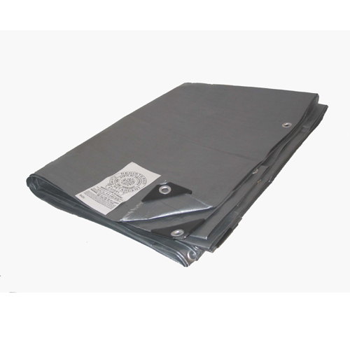 08 X 10 Heavy Duty Silver Fire Retardant Tarp