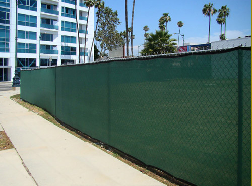6' X 50' Heavy Duty Green Fencescreen Mesh Tarp